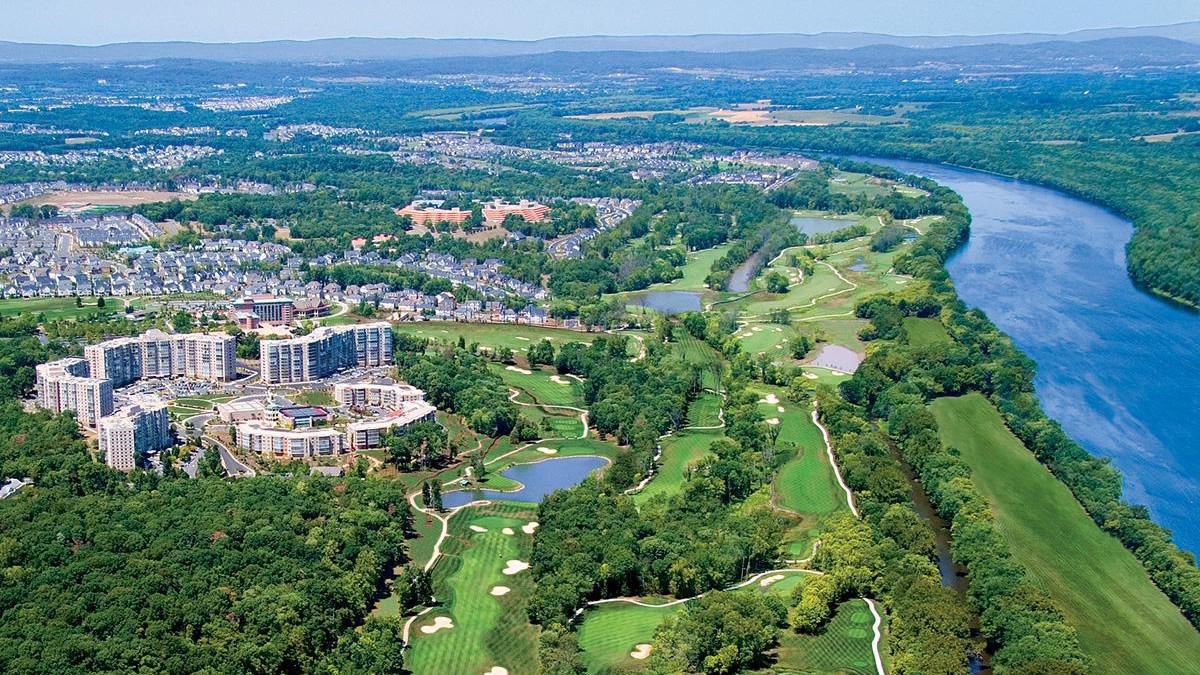 Aerial View of Leeburg, VA