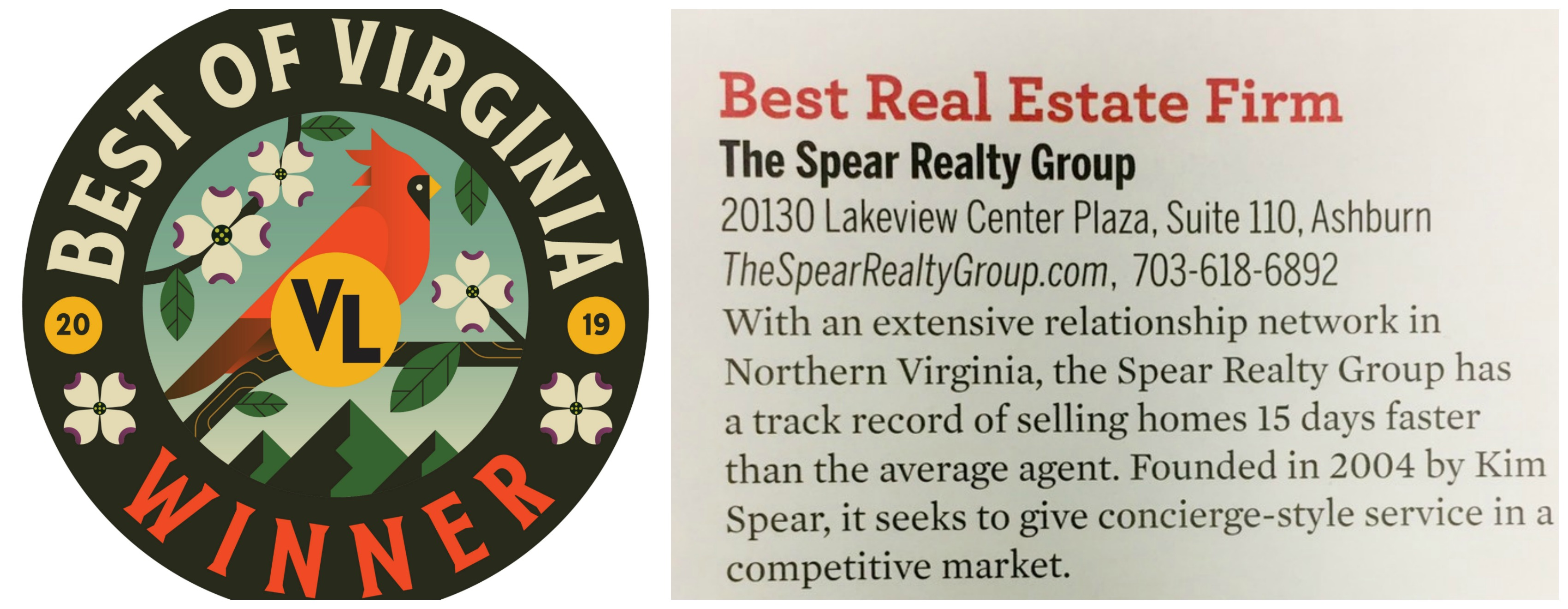The Spear Realty Group Named Best Realtor in Northern Virginia