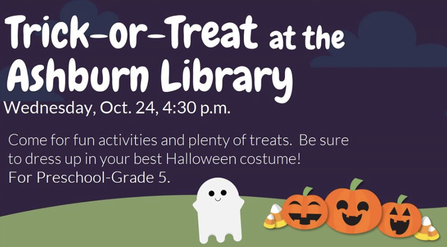 Trick or Treat at the Ashburn Library