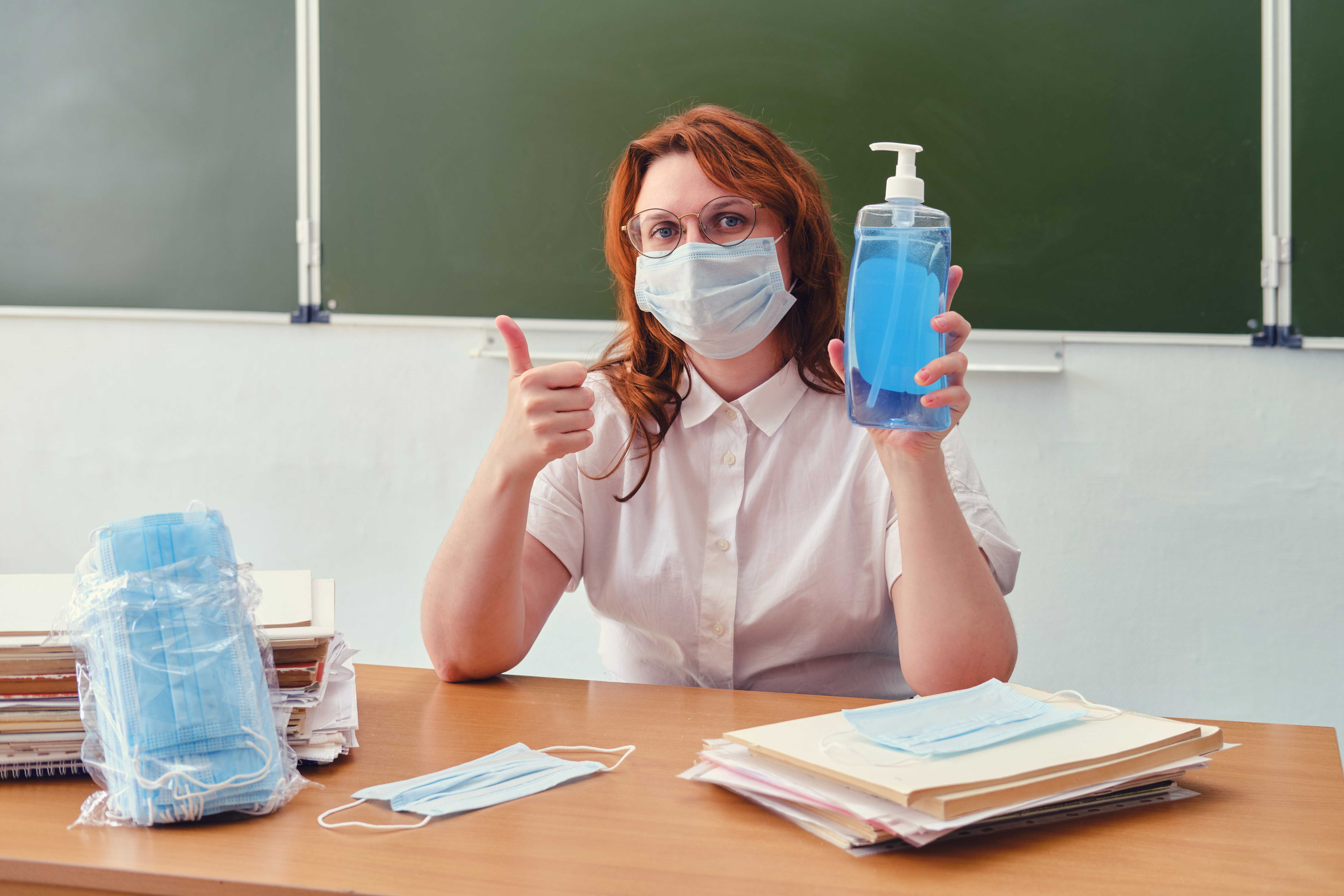 Teachers are required to wear mask at The Goddard School of Ashburn
