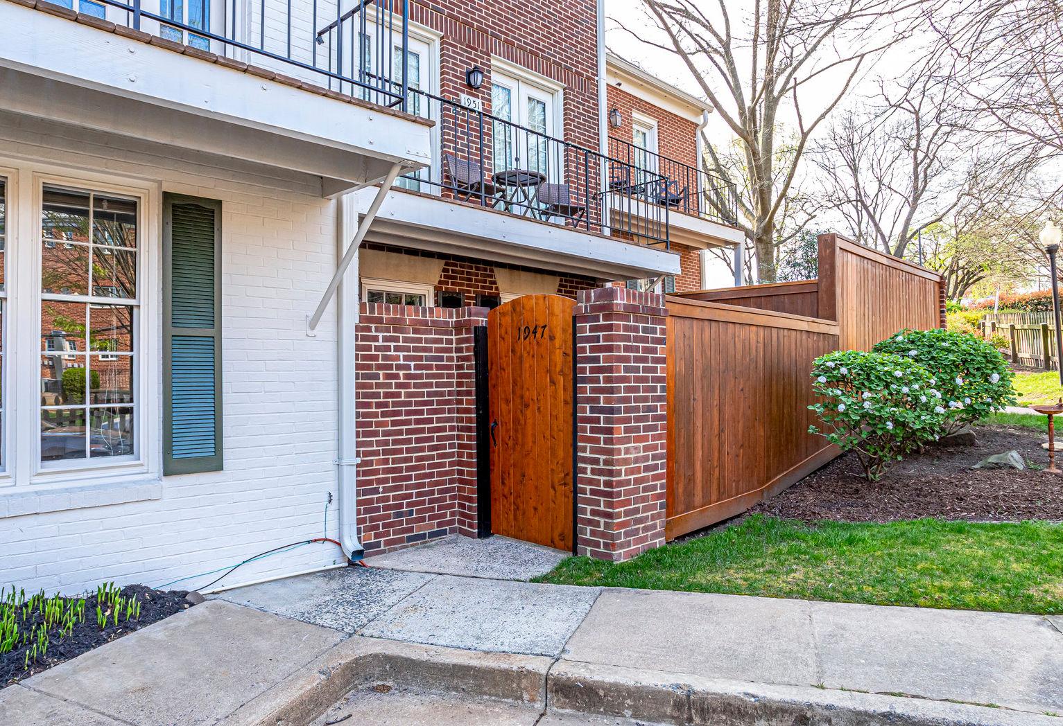 1947 N Calvert St #1, Arlington- Front Gate