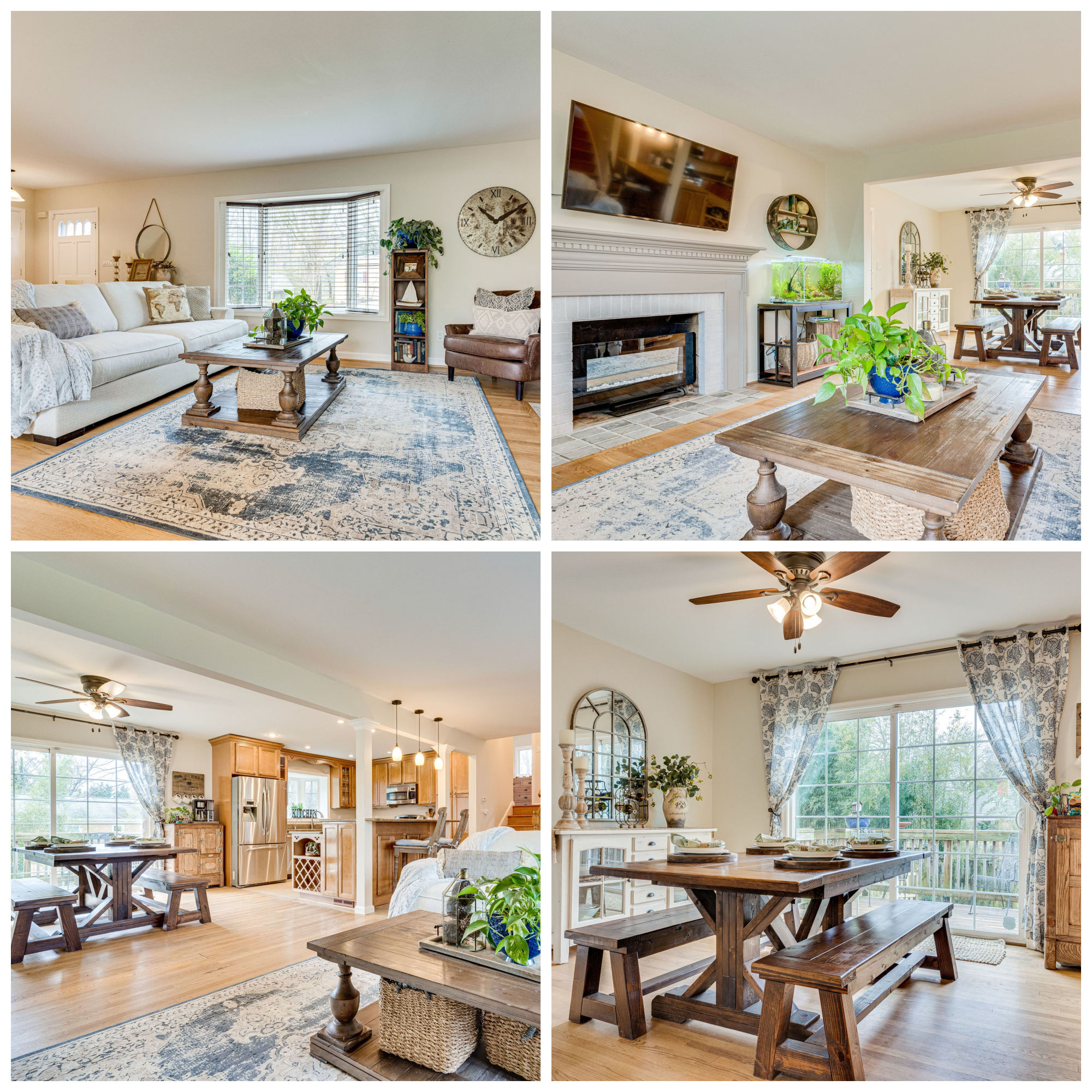6203 Colmac Dr, Falls Church- Living and Dining Room