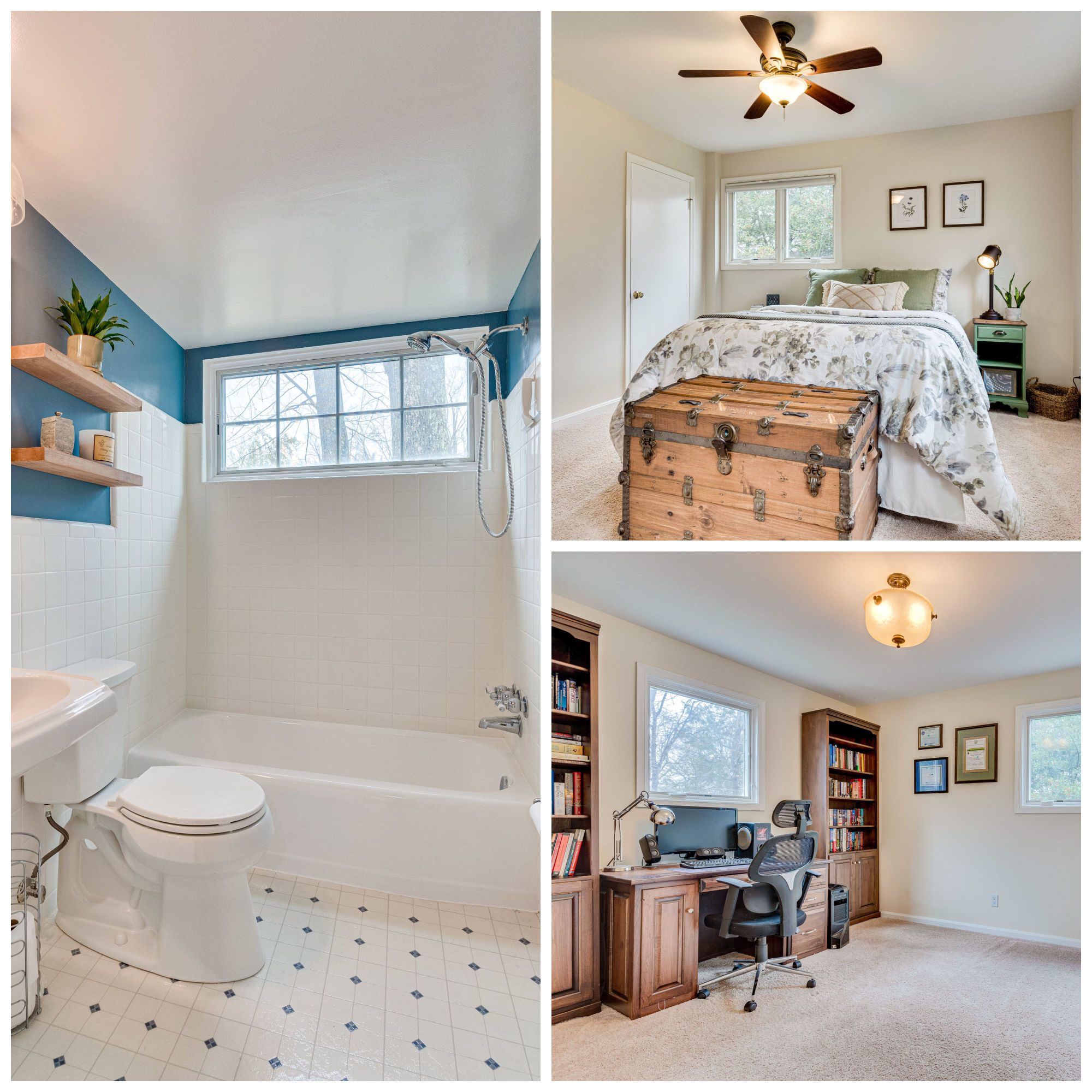6203 Colmac Dr, Falls Church- Lower Level Bedrooms and Bath