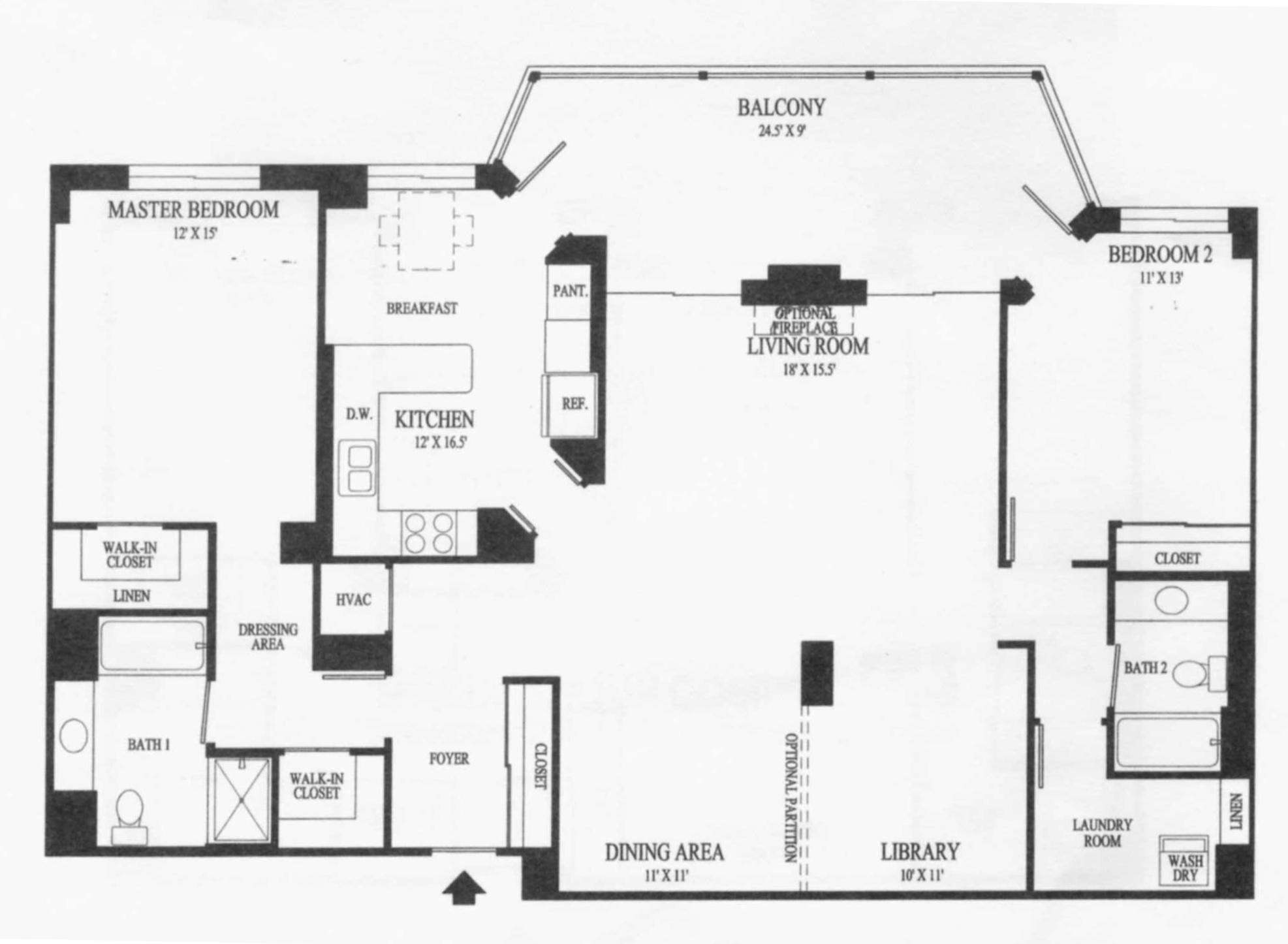 19355 Cypress Ridge Ter #917, Lansdowne Woods- Floor Plan