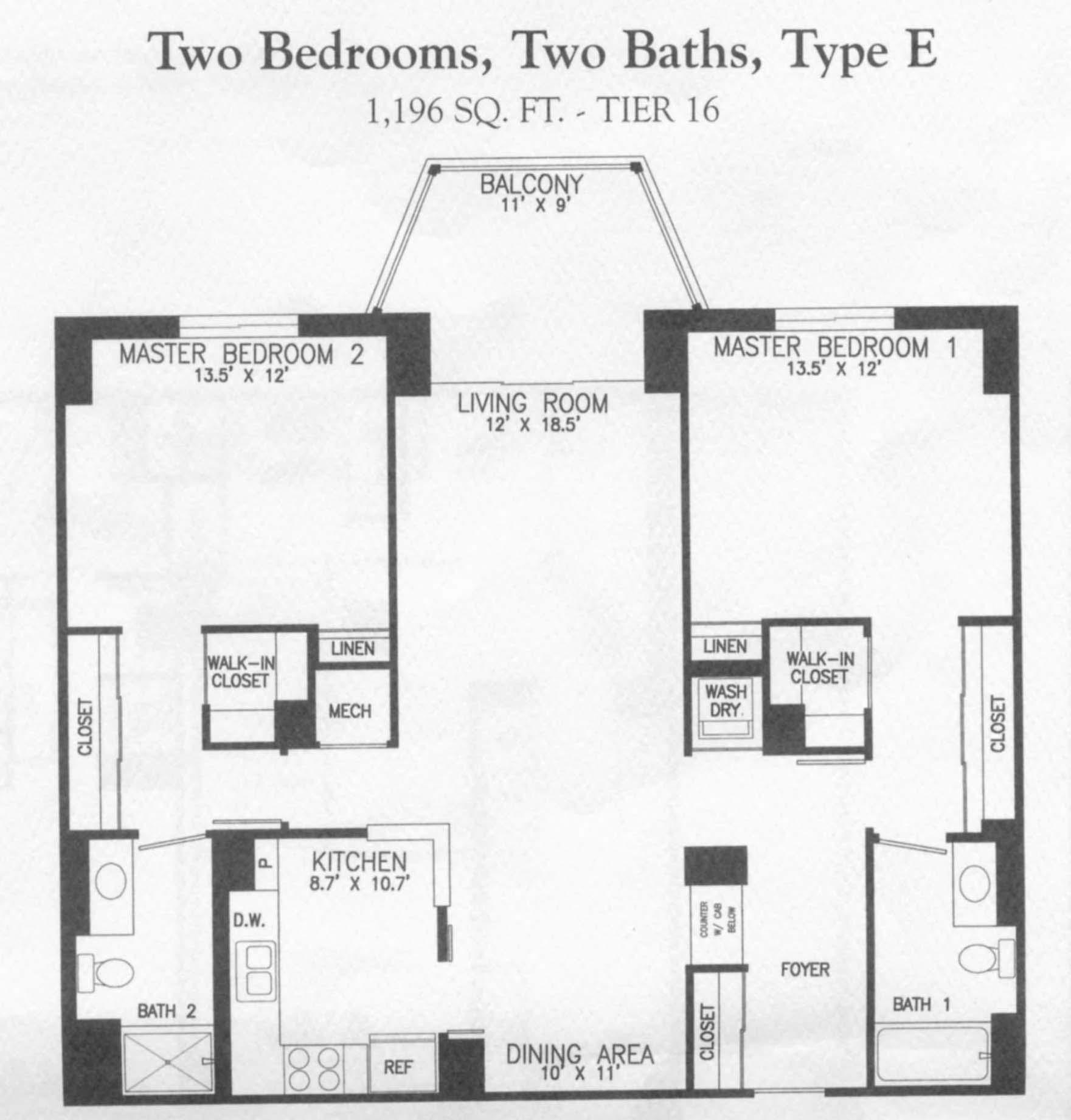 19385 Cypress Ridge Ter #316, Lansdowne Woods- Floorplan