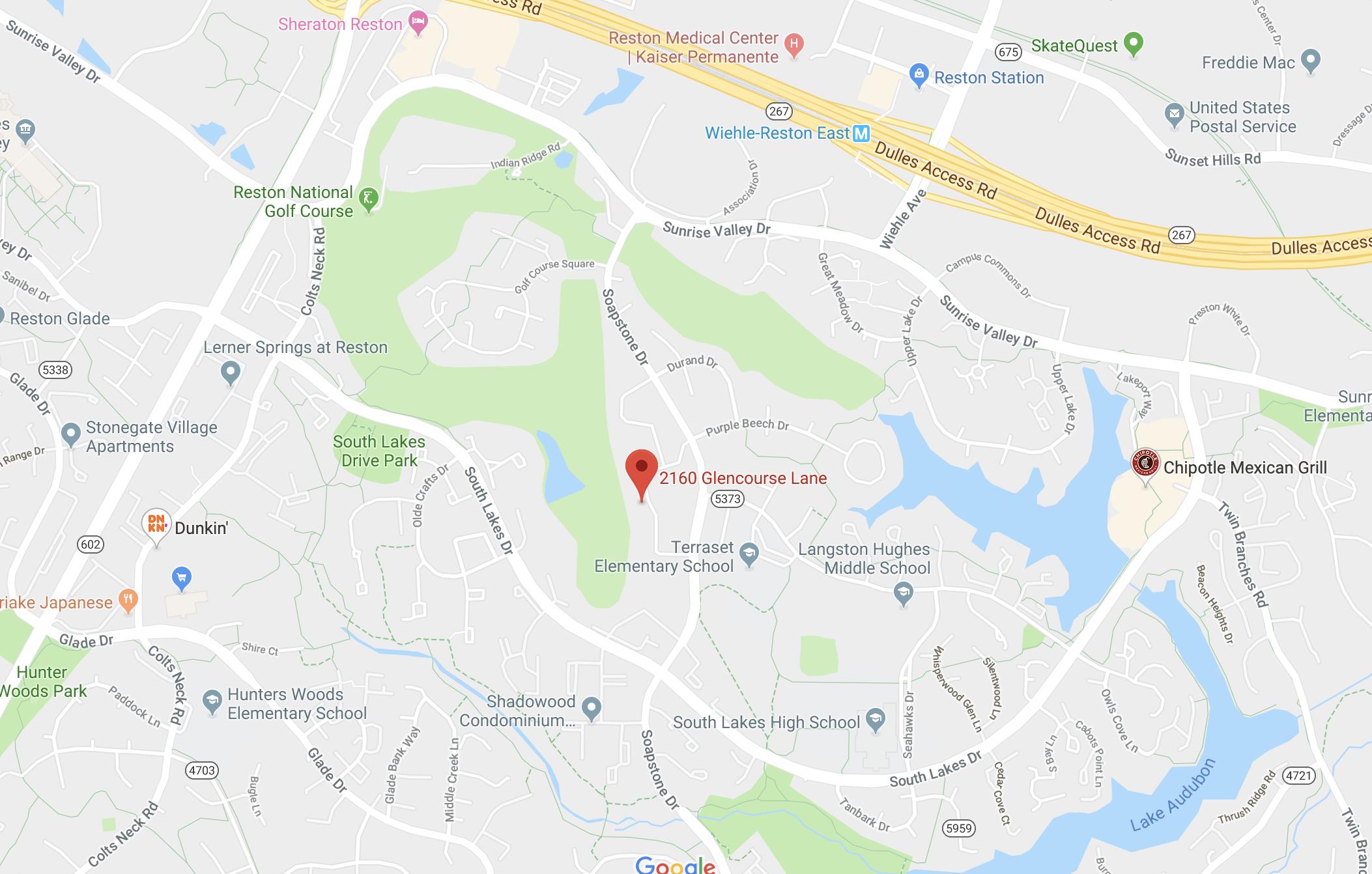 2160 Glencourse Ln, Reston - Map