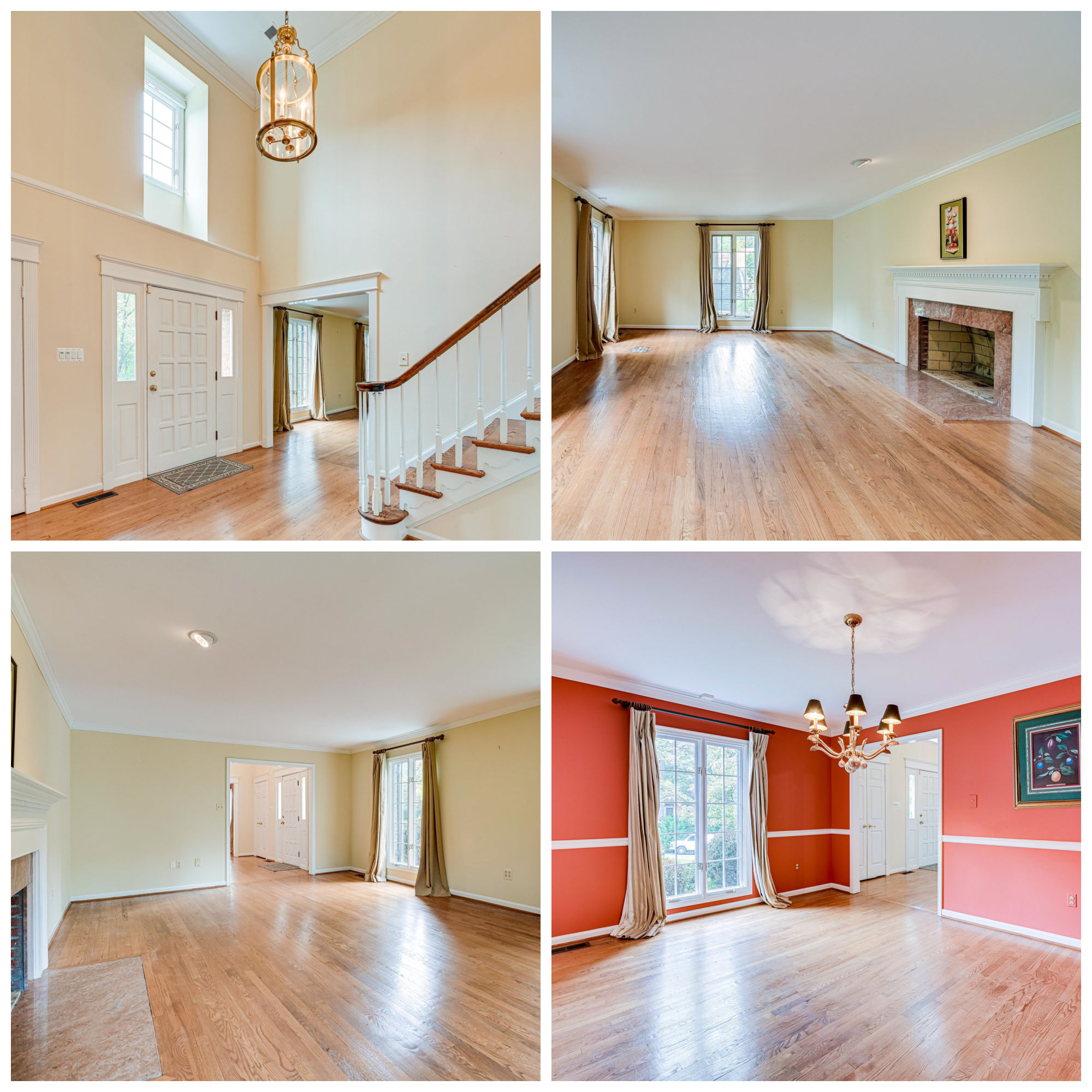 9220 Hidden Creek Dr, Great Falls- Foyer, Living, and Dining Room
