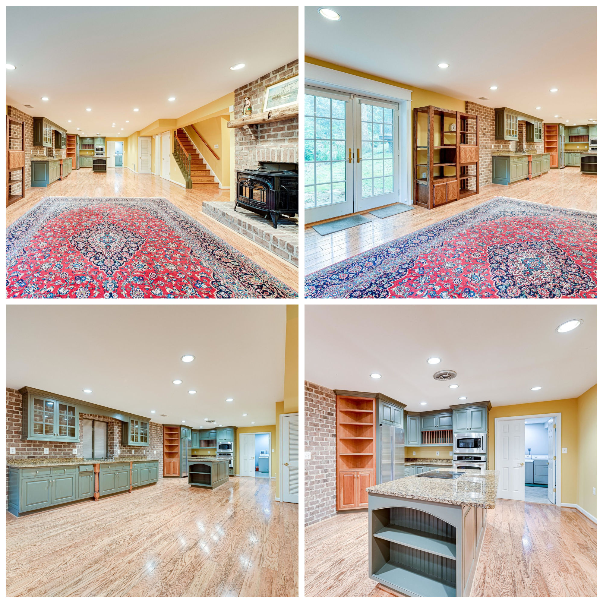 9220 Hidden Creek Dr, Great Falls- Lower Level Rec Room and Kitchen