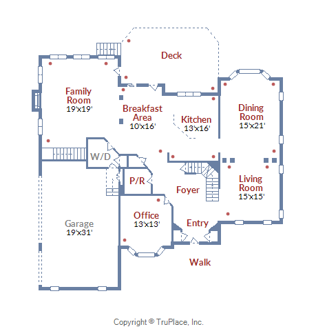 5727 Jonathan Mitchell Road_Main Level Floor Plan