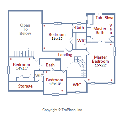 5727 Jonathan Mitchell Road_Upper Level Floor Plan