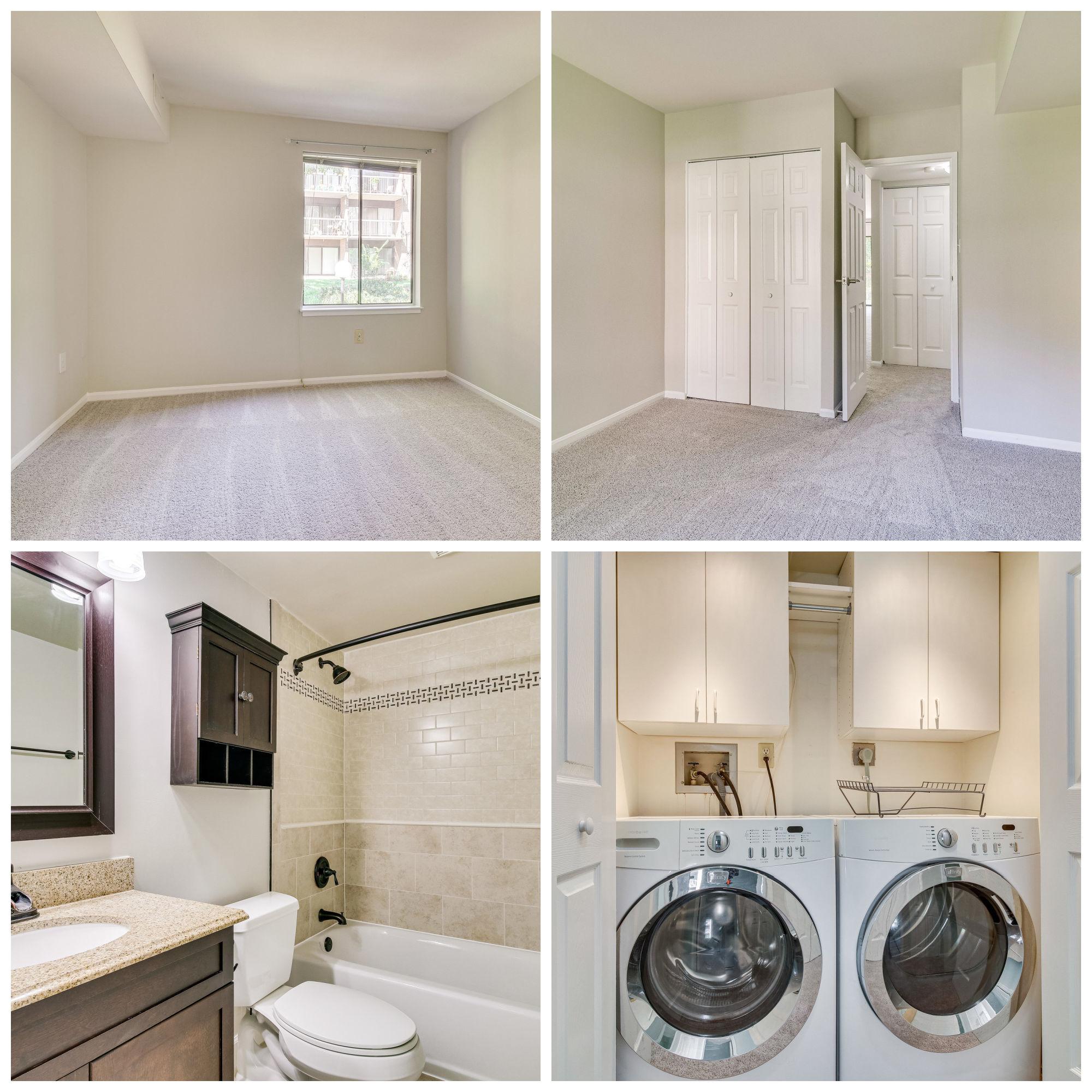9810 Kingsbridge Dr #102, Fairfax- Secondary Bedroom, Bathroom, and Laundry