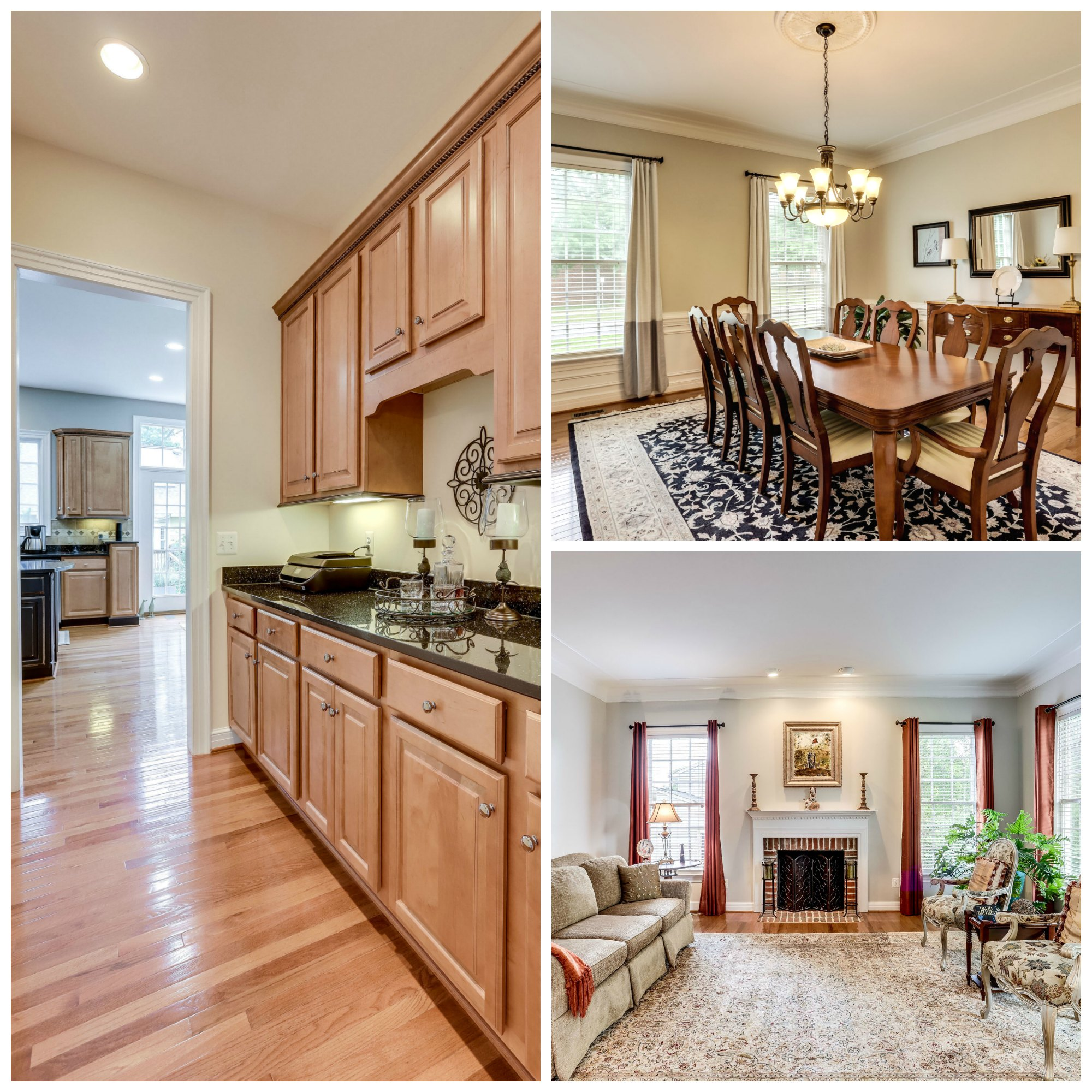 904 Locust St, Herndon- Living and Dining Room