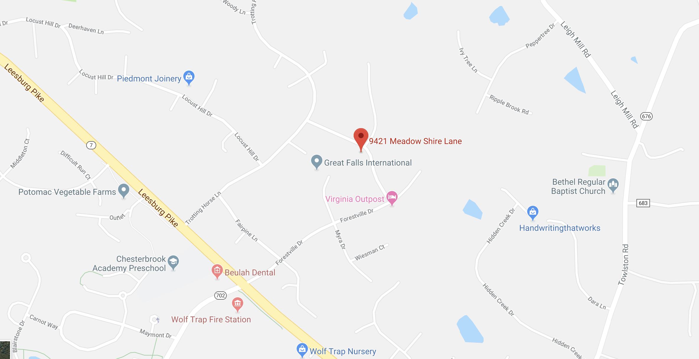 9421 Meadow Shire Ln_Great Falls_VA_Map