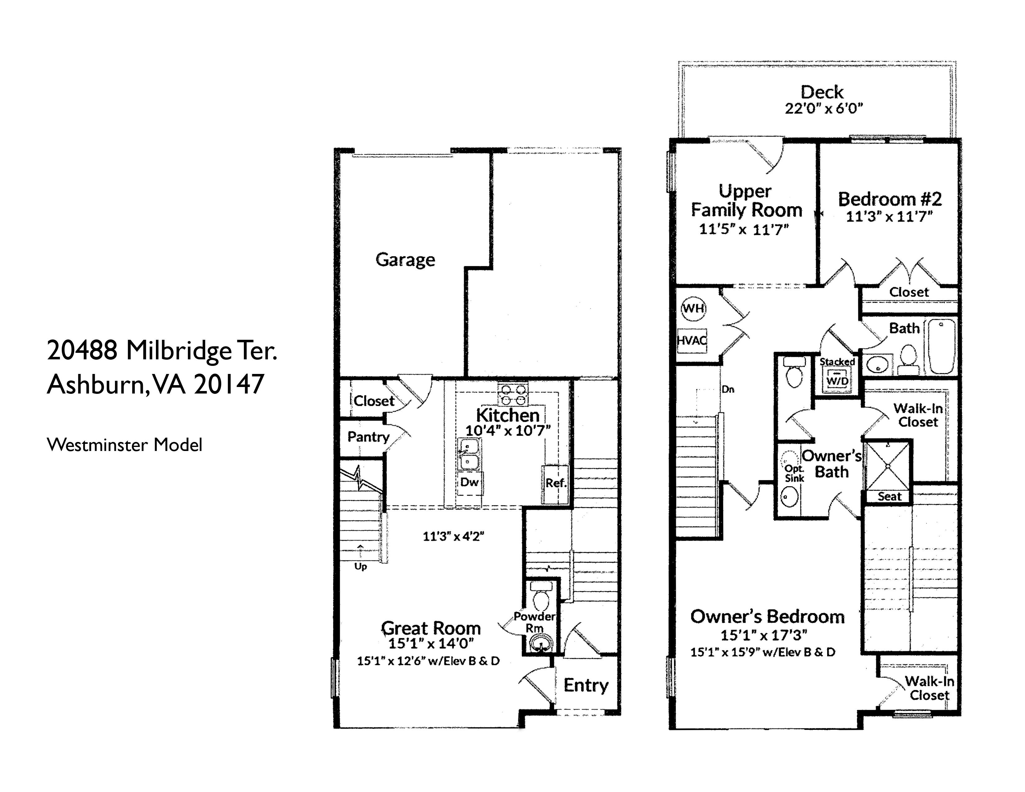 20488 Milbridge Ter, Ashburn- Floor plan