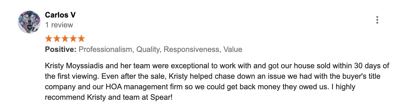 Review from the Seller of 42914 Park Brooke Ct