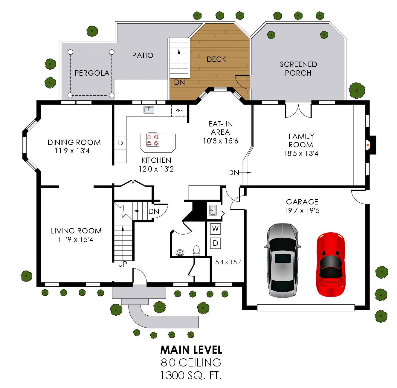 43459 Ridgeview Pl Ashburn Farm - Main Level Floor Plan