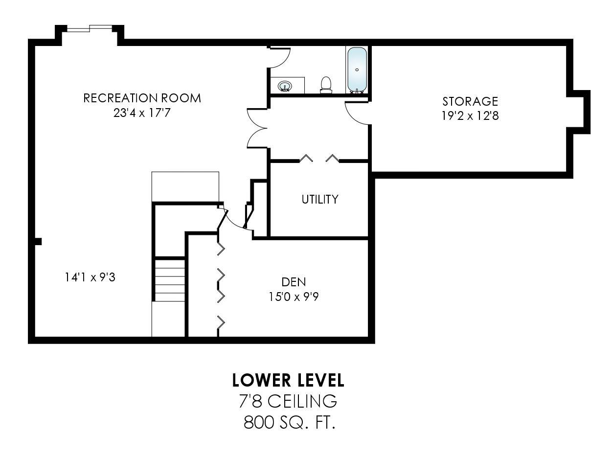 43459 Ridgeview Pl Ashburn Farm - Lower Level Floor Plan