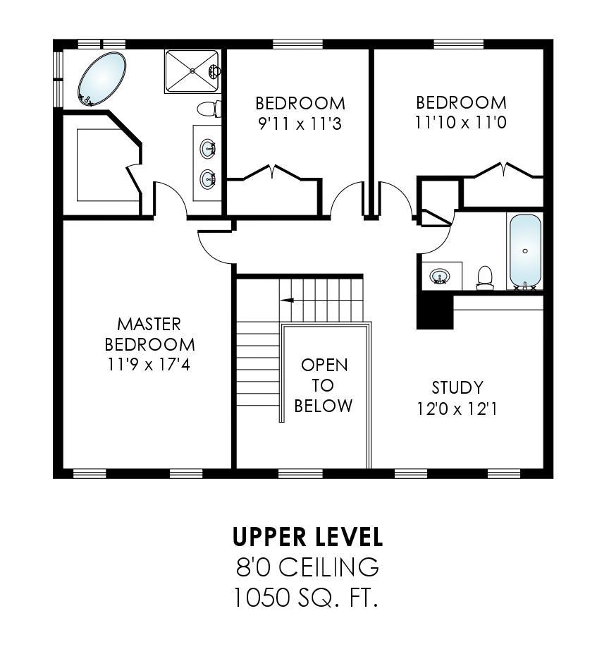 43459 Ridgeview Pl Ashburn Farm - Upper Level Floor Plan