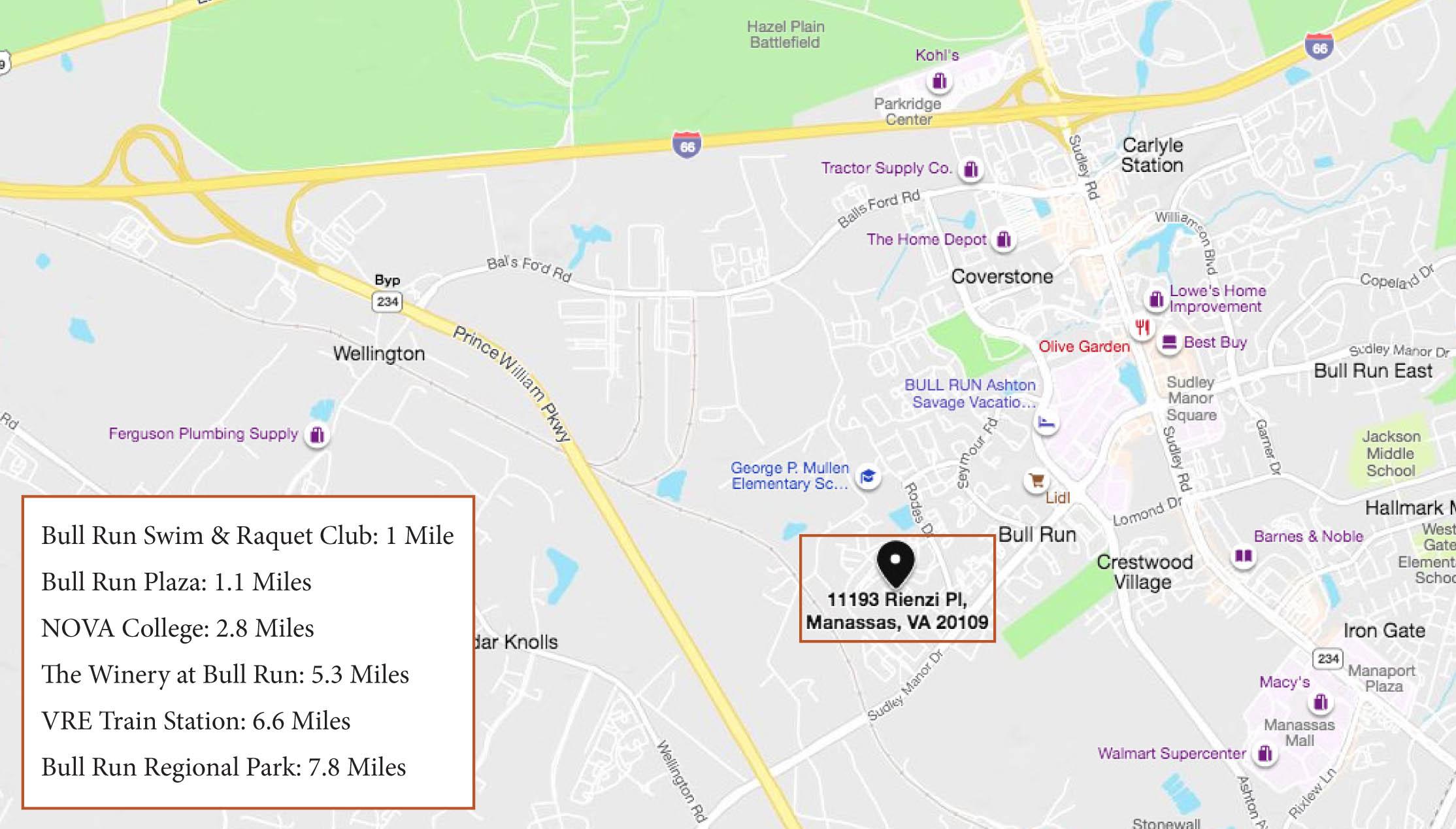 11193 Rienzi Pl #102, Manassas- Map
