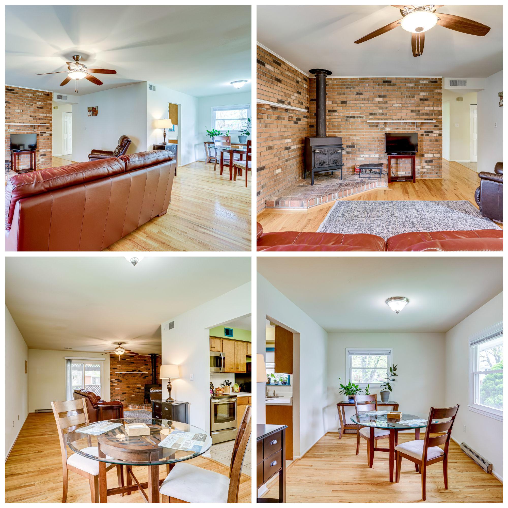605 E Roanoke Rd, Sterling- Living and Dining Room