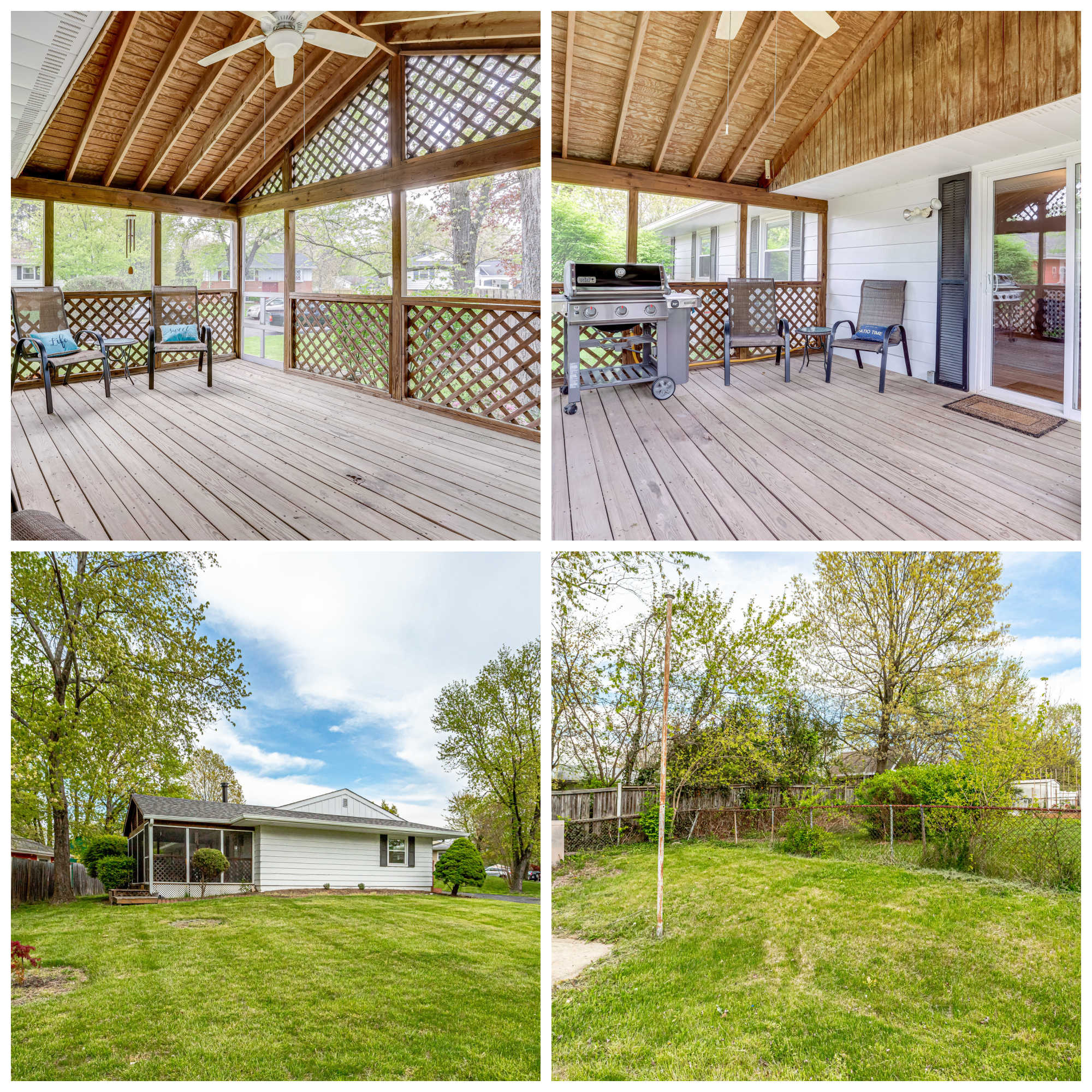 605 E Roanoke Rd, Sterling- Screened Porch and Yard