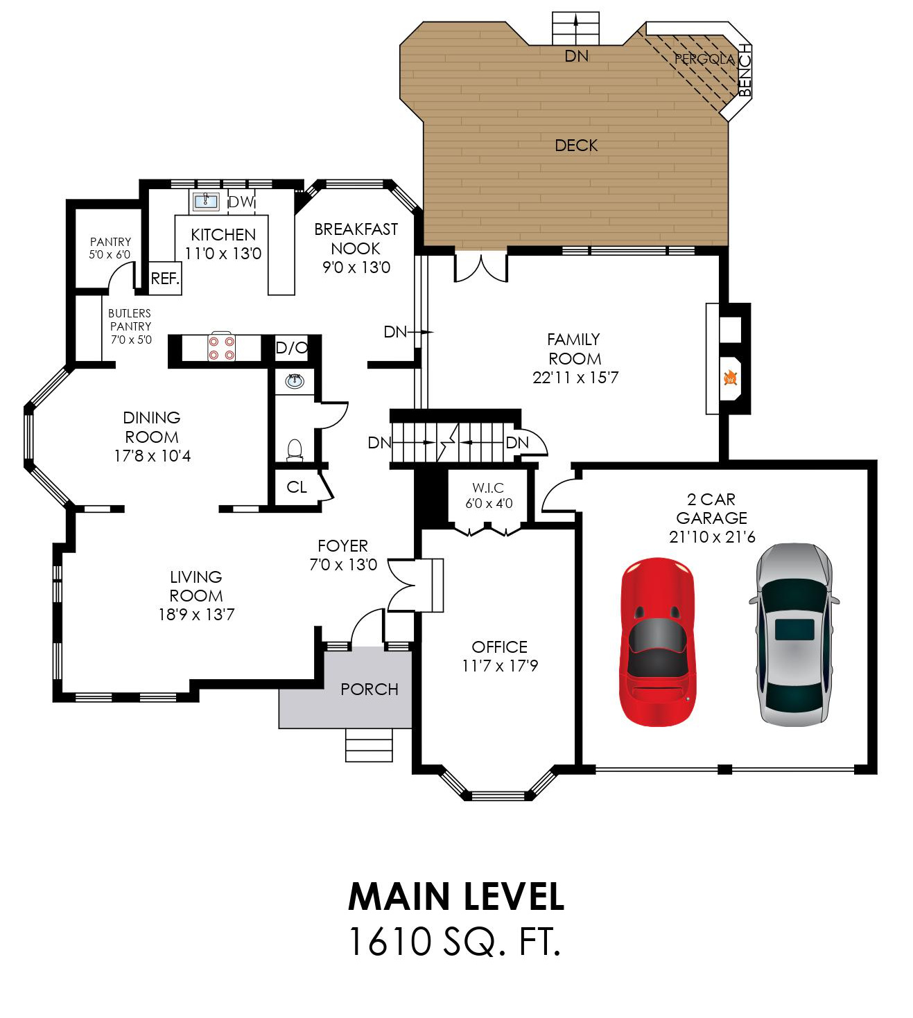 58 Rutherford Cir, Sterling- Main Level Floorplan