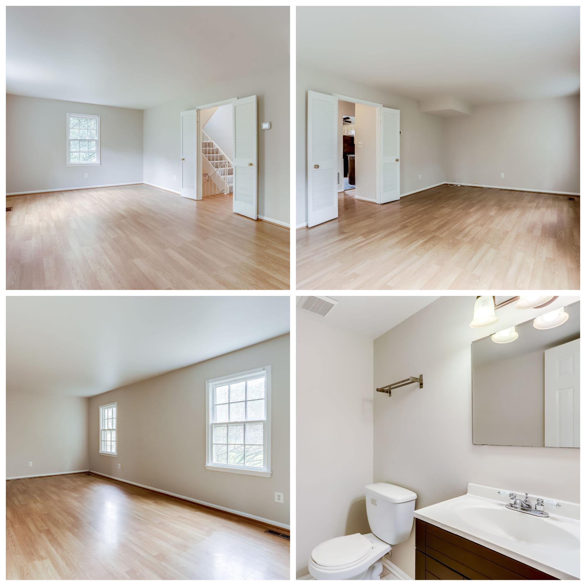 1022 Salisbury Ct, Sterling- Living Room and Powder Room