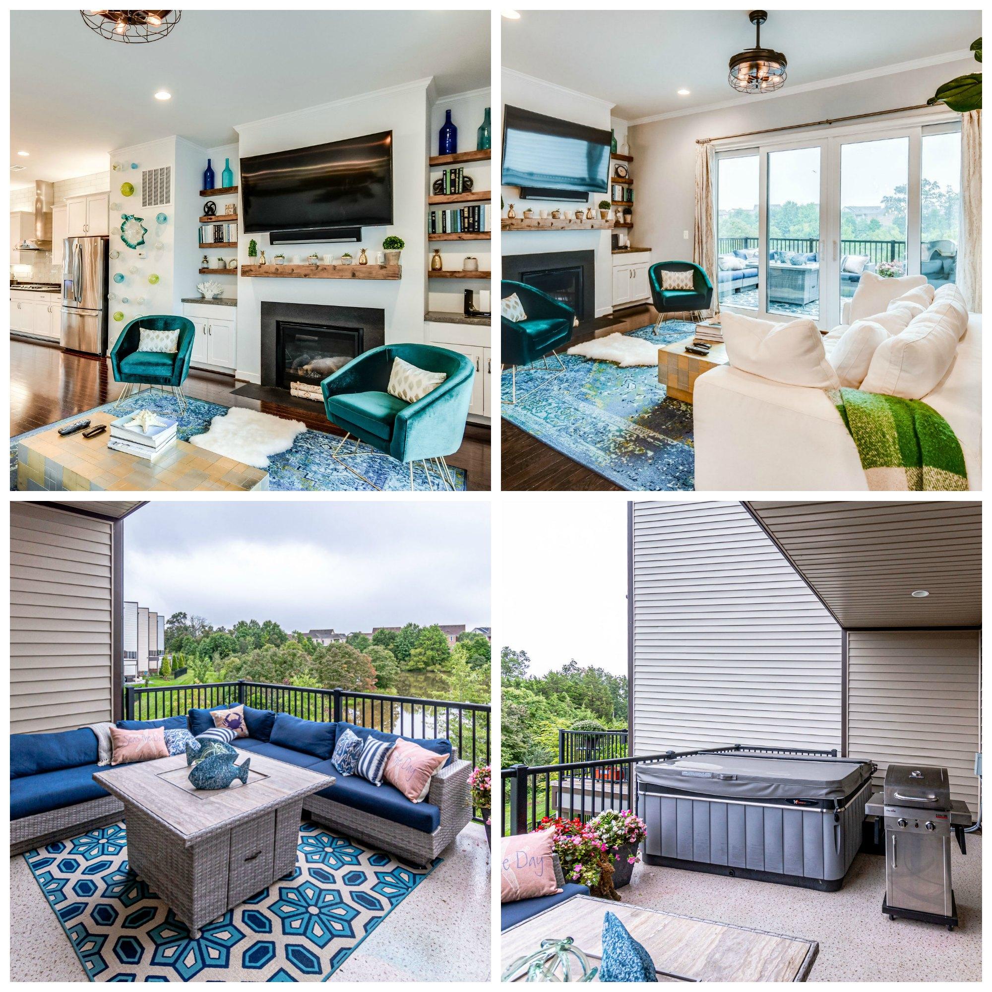 23094 Sullivans Cove Sq, Brambleton- Great Room and Deck