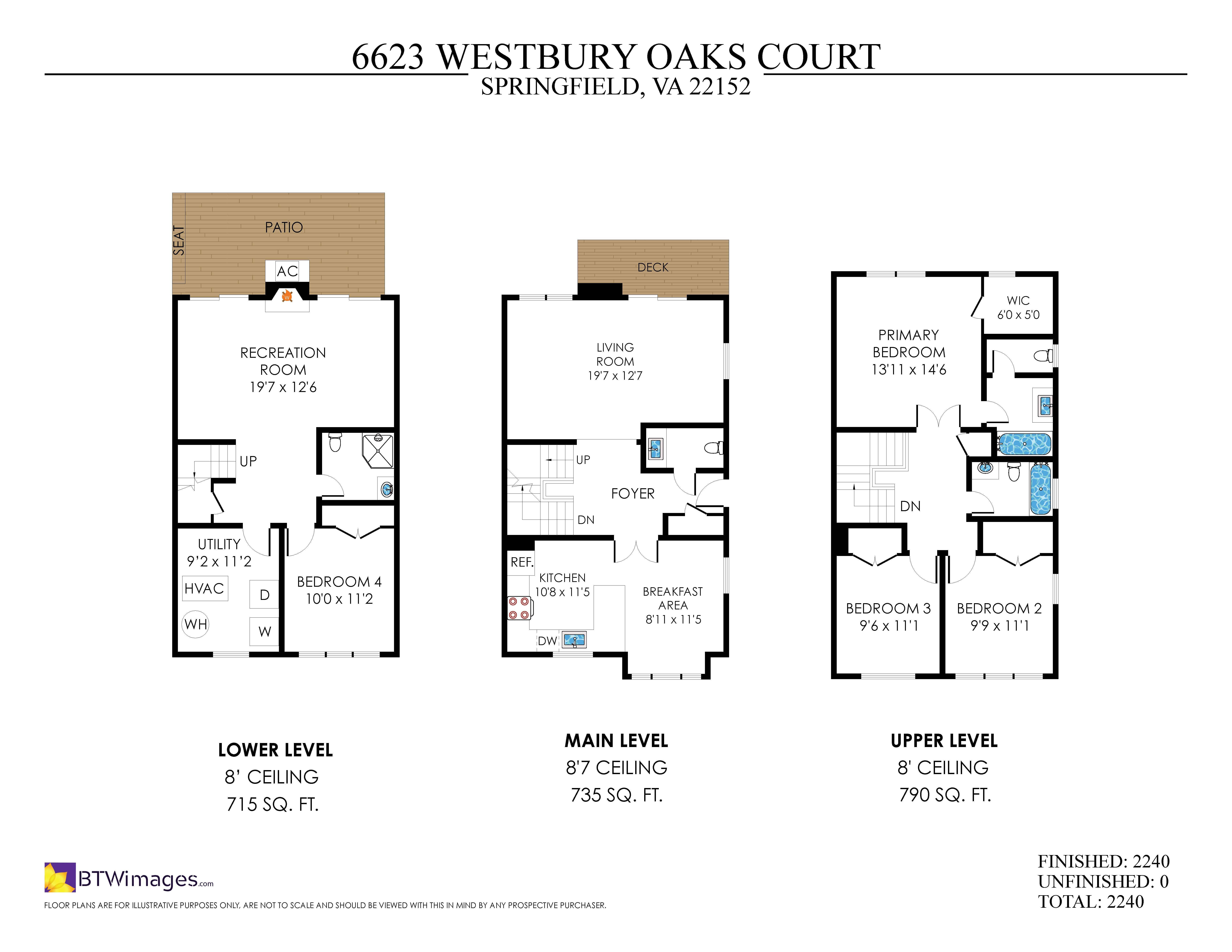 6623 Westbury Oaks Ct, Springfield- Floorplan