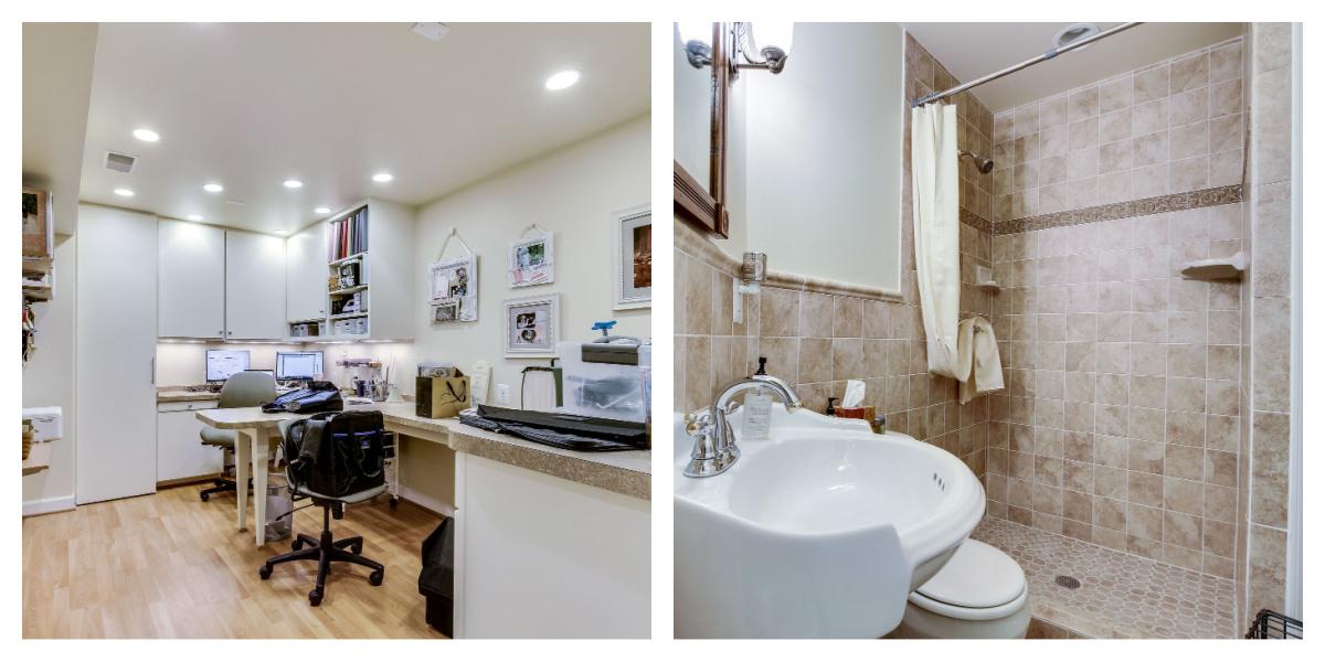 21930 Windover Dr, Broadlands- Lower Level Den and Bathroom