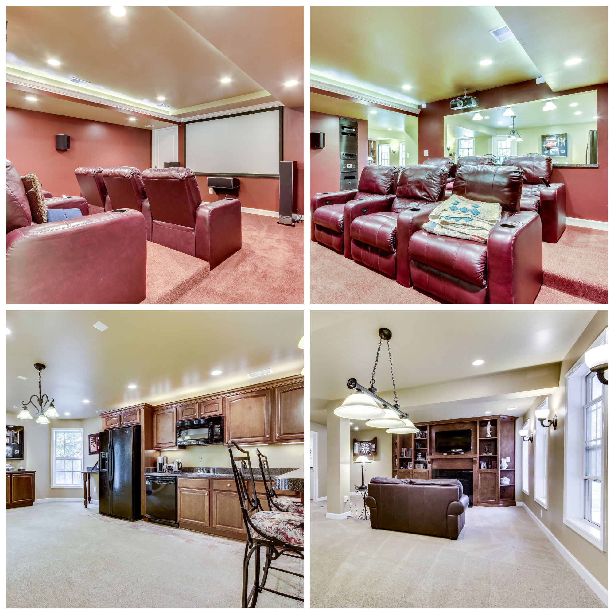 21930 Windover Dr, Broadlands- Lower Level Movie and Rec Rooms
