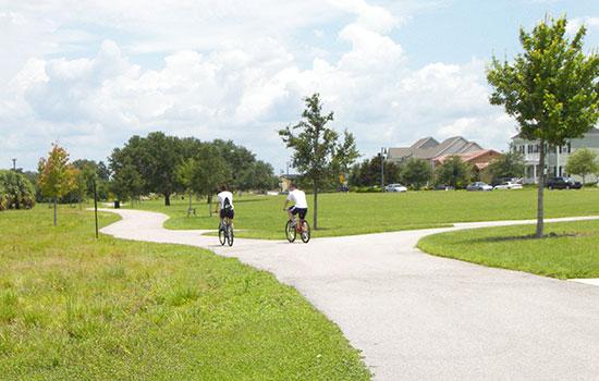 2 People riding bikes in Baldwin Park