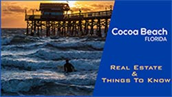 Header Image of Surfer at Cocoa Beach Pier in Cocoa Beach Florida