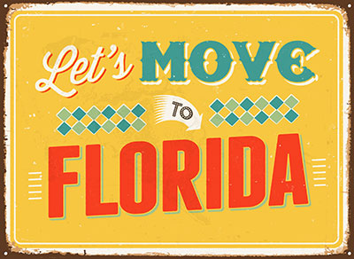 Let's Move To Florida Sign