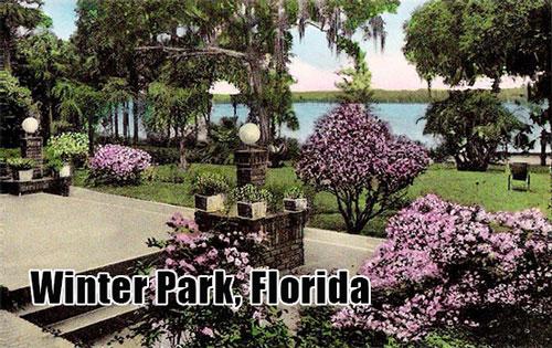 Blooming flowers in Winter Park Florida