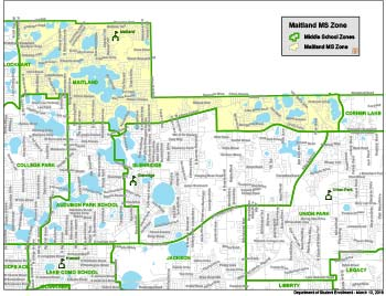 OCPS Maitland Middle School Zone Map