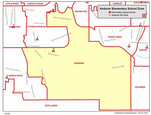 Andover Elementary Zone Map