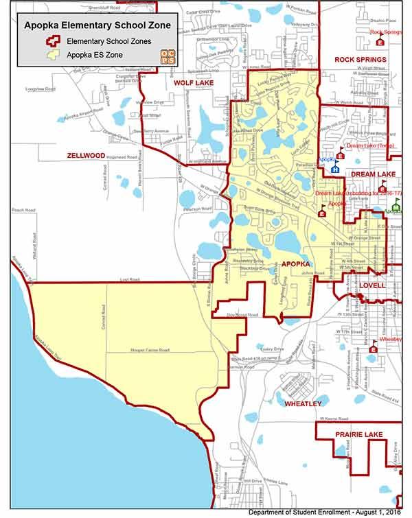 OCPS Apopka Elementary Map