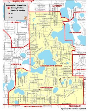 OCPS Audubon Park K-8 Map