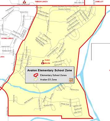 OCPS Avalon Elementary Map