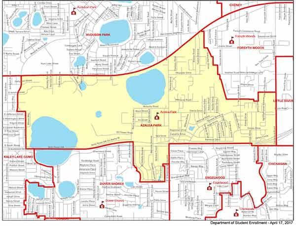 OCPS Azalea Park Elementary Map