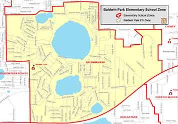 OCPS Baldwin Park Elementary Map