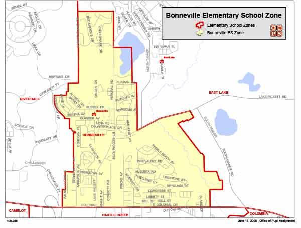 OCPS Bonneville Elementary Map