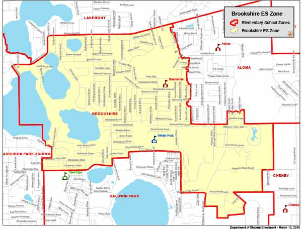 OCPS Brookshire Elementary Map