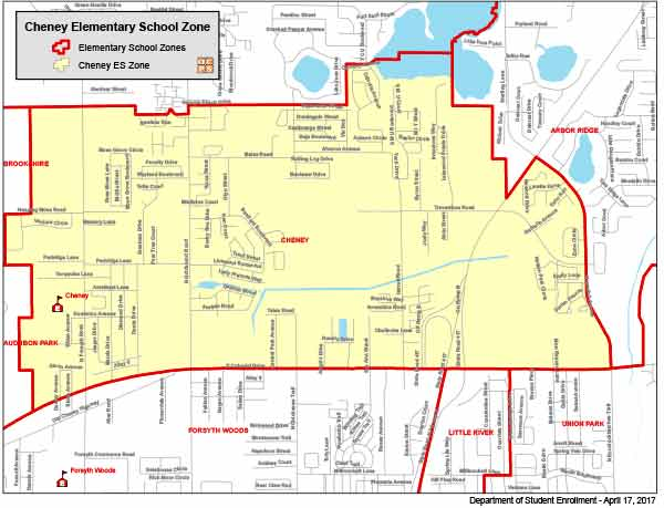 OCPS Cheney Elementary Map