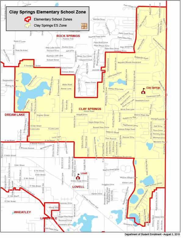 OCPS Clay Springs Elementary Map