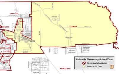 OCPS Columbia Elementary Map