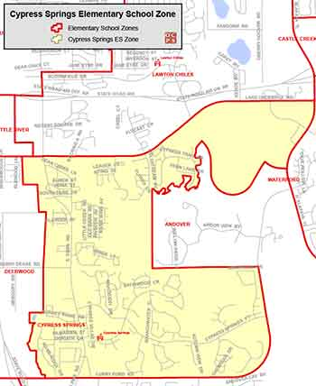 OCPS Cypress Springs Elementary Map