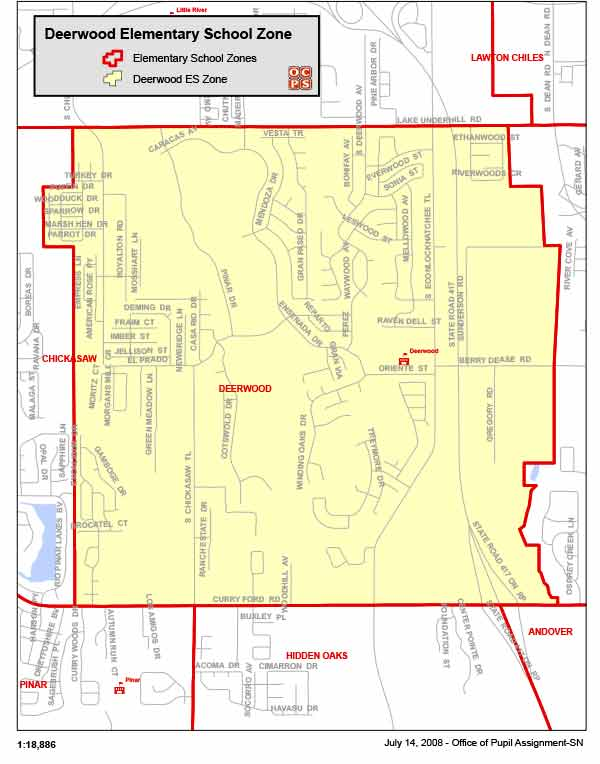 OCPS Deerwood Elementary Map