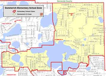 OCPS ColuDommerichbia Elementary Map
